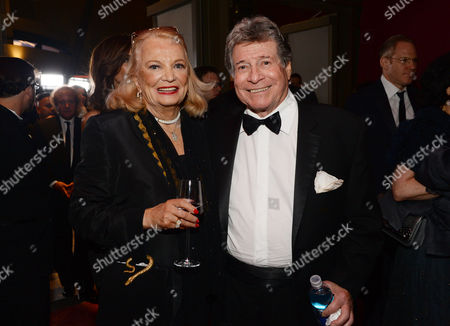 Gena Rowlands, left, and Robert Forrest attend the Governors Ball after the Oscars, at the Dolby Theatre in Los Angeles