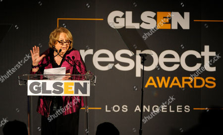 Stock Image of Linda Bloodworth-Thomason accepts the Lifetime Achievement Award at the 9th Annual Gay, Lesbian & Straight Education Network Respect Awards at The Beverly Hills Hotel on in Beverly Hills, Calif