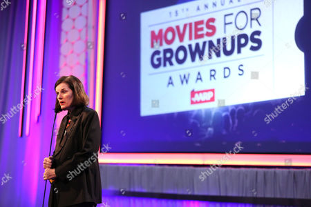 Paula Poundstone speaks at AARP's 15th Annual Movies for Grownups Awards at the Beverly Wilshire Hotel, in Beverly Hills, Calif