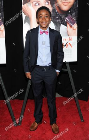 """Stock Image of Actor Travaris Spears attends the premiere of """"Admission"""" at AMC Loews Lincoln Square on in New York"""
