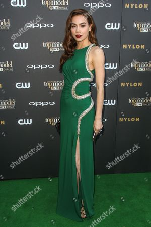Ho Ngoc Ha attends the 'America's Next Top Model' Cycle 22 Premiere Party at Greystone Manor on in Los Angeles