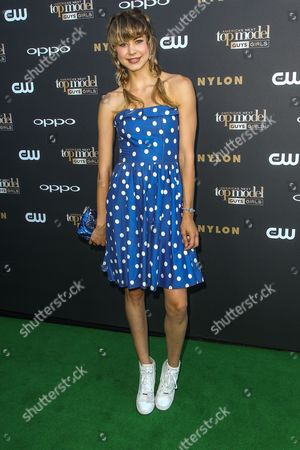 Hannah Kat Jones attends the 'America's Next Top Model' Cycle 22 Premiere Party at Greystone Manor on in Los Angeles