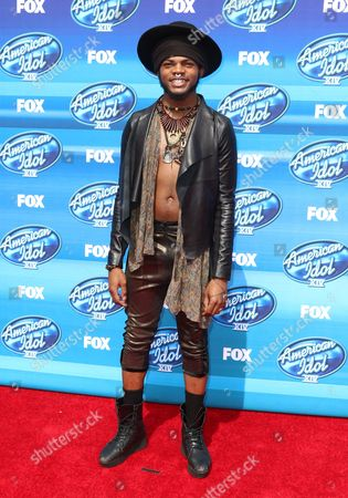 Quentin Alexander arrives at the American Idol XIV finale at the Dolby Theatre, in Los Angeles