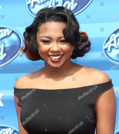 Sarina-Joi Crowe arrives at the American Idol XIV finale at the Dolby Theatre, in Los Angeles
