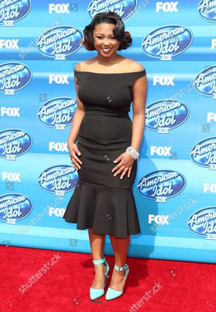 Stock Picture of Sarina-Joi Crowe arrives at the American Idol XIV finale at the Dolby Theatre, in Los Angeles