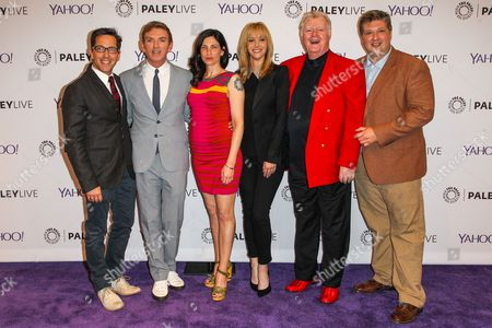 """From left, actor Dan Bucatinsky, creator/executive producer Michael Patrick King, actors Laura Silverman, Lisa Kudrow, Robert Michael Morris, and Lance Barber attend An Evening with HBO's """"The Comeback"""" at The Paley Center for Media, in Beverly Hills, Calif"""