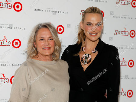Renee Ehrlich Kalfus, left, and Molly Sims, right, attend the Annie For Target Launch Event at Stage 37, in New York
