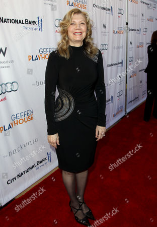 Mona Golabek arrives at the Backstage at the Geffen gala at the Geffen Playhouse, in Los Angeles