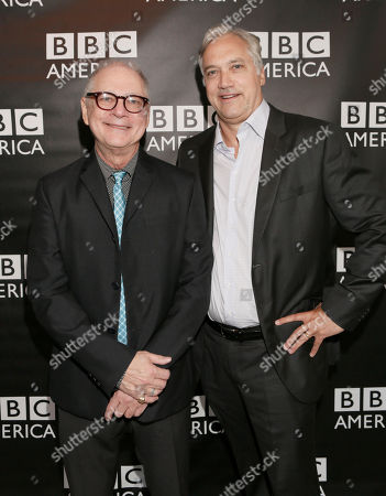 Barry Levinson and BBC Worldwide America President Herb Scannell attend the BBC America TCA Party at Cafe La Boheme on in Los Angeles, California