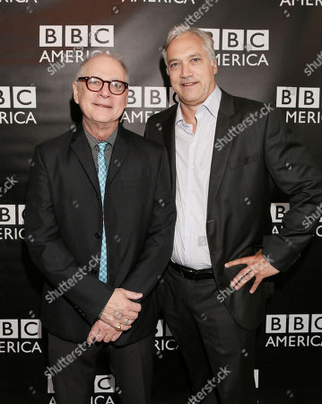 Barry Levinson and BBC America America President Herb Scannell attend the BBC America TCA Party at Cafe La Boheme on in Los Angeles, California