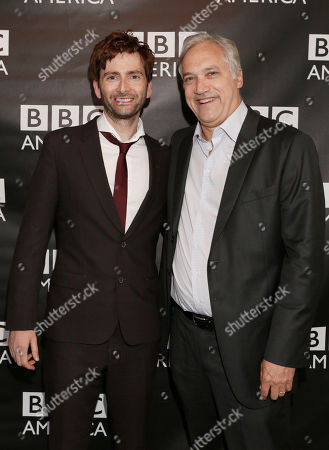 David Tennant and BBC America America President Herb Scannell attend the BBC America TCA Party at Cafe La Boheme on in Los Angeles, California