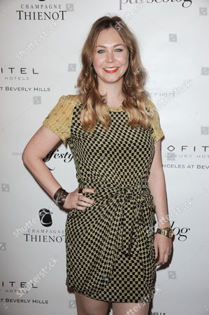 Stock Image of Dana Rosendorff arrives at the Beverly Hills Lifestyle Magazine's 5th Anniversary at the Riveria 31 Lounge on in Los Angeles