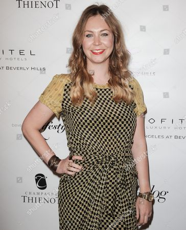 Dana Rosendorff arrives at the Beverly Hills Lifestyle Magazine's 5th Anniversary at the Riveria 31 Lounge on in Los Angeles