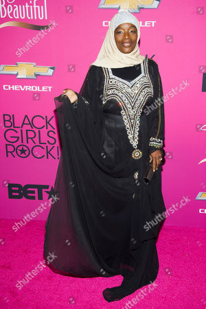 Stock Picture of Ameena Matthews attends BET Networks' Black Girls Rock! on in Newark, N.J