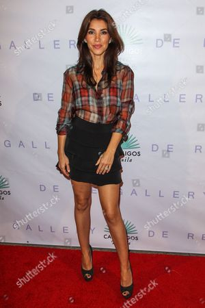 """Adrianna Costa attends the Brian Bowen Smith's """"Metallic Life"""" Exhibition Debut at the De Re Gallery on in Los Angeles"""