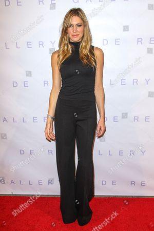 "Jes Macallan attends the Brian Bowen Smith's ""Metallic Life"" Exhibition Debut at the De Re Gallery on in Los Angeles"