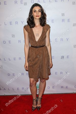 """Rachele Schank attends the Brian Bowen Smith's """"Metallic Life"""" Exhibition Debut at the De Re Gallery on in Los Angeles"""