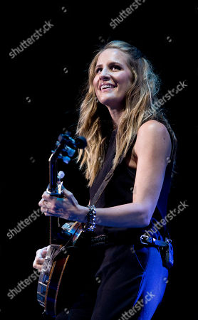 Musician Emily Robison of Dixie Chicks performs on stage during the Country to Country music concert, otherwise known as C2C, at the o2 in east London, . The annual country concert showcases some of the world's best country music artists