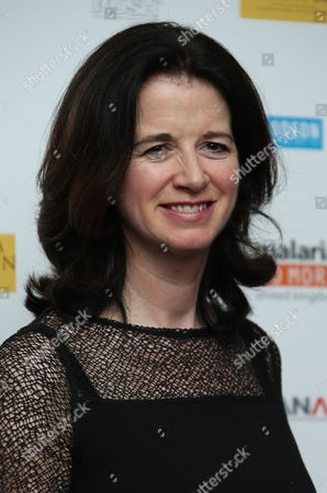 Andrea Calderwood arrives on the red carpet for the UK film premiere of Half Of A Yellow Sun at a cinema in Streatham, south London