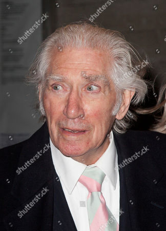 English actor Frank Finlay arrives at National Theatre: 50 Years on Stage, a live performance broadcast on television and to cinemas internationally to celebrate the National Theatre's 50th anniversary in London, on