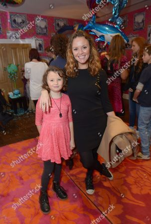 """Charlie Brooks and daughter Kiki Dee Truman attend a celebrity screening of """"The Reef 2: The High Tide"""" at the Soho Hotel,, in London"""