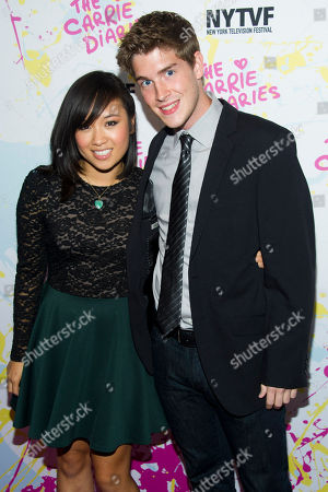 "Ellen Wong and Brendan Dooling attend ""The Carrie Diaries"" premiere on in New York"