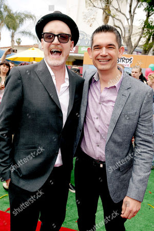 "Directors Fergal Reilly and Clay Kaytis seen at Columbia Pictures and Rovio Animations Premiere of ""The Angry Birds Movie"" at Regency Village Theatre, in Los Angeles"