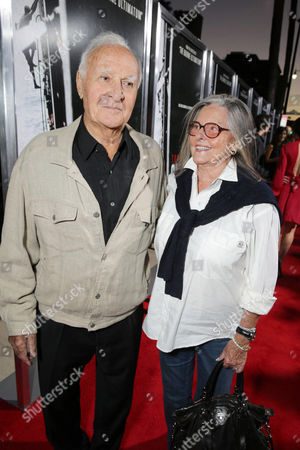Robert Loggia, left, and Audrey Loggia arrive at Columbia Pictures screening of 'Captain Phillips', on in Beverly Hills, Calif