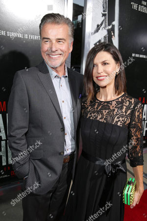 Ian Buchanan and Finola Hughes arrive at Columbia Pictures screening of 'Captain Phillips', on in Beverly Hills, Calif
