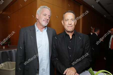 Executive Producer Gregory Goodman, left, and Tom Hanks seen at Columbia Pictures screening of 'Captain Phillips', on in Beverly Hills, Calif