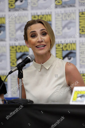 """Jessica Harmon seen at Crackle's """"Dead Rising: Endgame"""" panel at 2016 Comic Con, in San Diego, CA"""