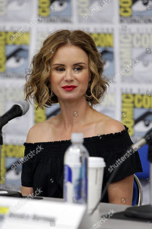 "Keegan Connor Tracy seen at Crackle's ""Dead Rising: Endgame"" panel at 2016 Comic Con, in San Diego, CA"