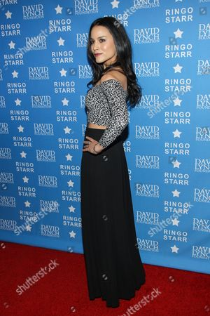 """Actress Maya Stojan attends the David Lynch Foundation Honors Ringo Star """"A Lifetime of Peace & Love"""" event held at the El Rey Theatre on in Los Angeles"""