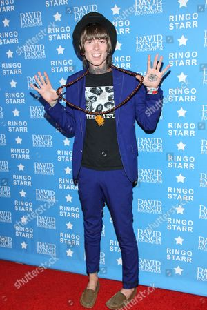 """Vocalist Christofer Drew of Never Shout Never attends the David Lynch Foundation Honors Ringo Star """"A Lifetime of Peace & Love"""" event held at the El Rey Theatre on in Los Angeles"""