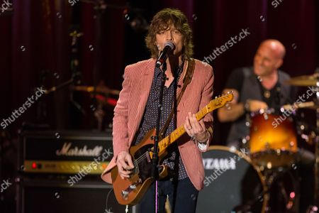 "Musician Brendan Benson performs on stage during the David Lynch Foundation Honors Ringo Star ""A Lifetime of Peace & Love"" event held at the El Rey Theatre on in Los Angeles"