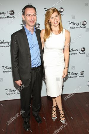 Paul Lee, President, ABC Entertainment Group, and actress Connie Britton attend the Disney/ABC Winter 2014 TCA All Star Reception on in Pasadena, Calif