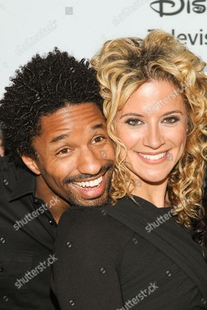 Actors Craig Frank and Alexis Carra attend the Disney/ABC Winter 2014 TCA All Star Reception on in Pasadena, Calif