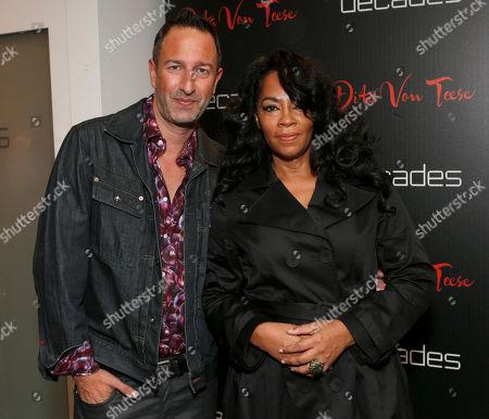 Christos Garkinos and Jody Watley attend Dita Von Teese's Collection Launch at Decades, in Los Angeles