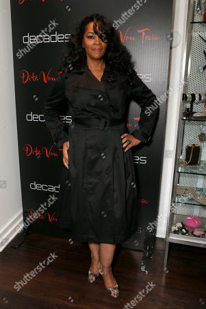 Jody Watley attends Dita Von Teese's Collection Launch at Decades, in Los Angeles