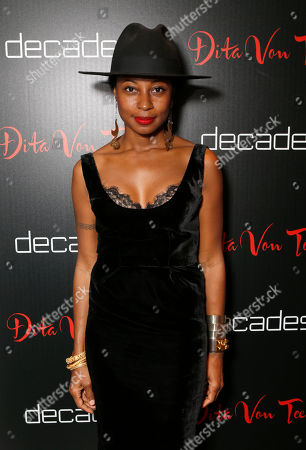 Fatima Robinson attends Dita Von Teese's Collection Launch at Decades, in Los Angeles