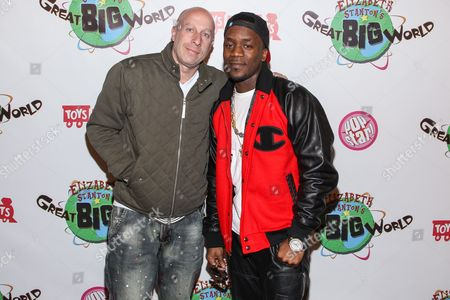 Stock Picture of Talent manager Steve Lobel (L) and recording artist Iyaz arrive at Elizabeth Stanton's 18th birthday benefiting Toys for Tots at Belasco Theatre on in Los Angeles