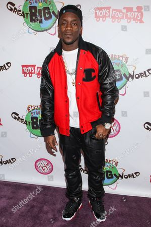 Stock Photo of Recording artist Iyaz arrives at Elizabeth Stanton's 18th birthday benefiting Toys for Tots at Belasco Theatre on in Los Angeles