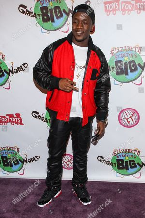 Stock Image of Recording artist Iyaz arrives at Elizabeth Stanton's 18th birthday benefiting Toys for Tots at Belasco Theatre on in Los Angeles