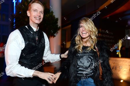 Doug Jones, left, and Sarah Carter attend Entertainment Weekly's Annual Comic-Con Closing Night Celebration at the Hard Rock Hotel, in San Diego