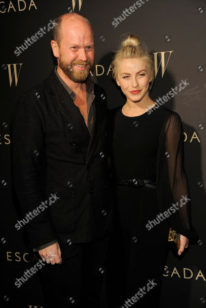 Julianne Hough poses with Escada fashion director Daniel Wingate at the Escada and W Magazine celebration of the Cool Earth Organization at the Escada Boutique on in Beverly Hills, Calif