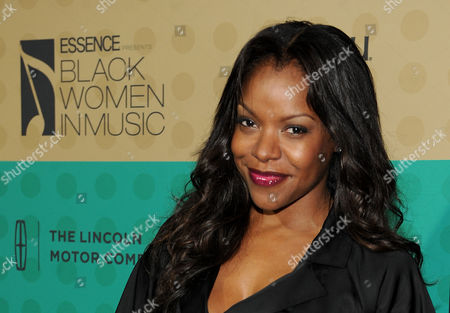 Nadine Ellis arrives at the 5th Annual ESSENCE Black Women in Music reception, on at 1 OAK in Los Angeles, Calif