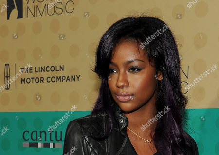 Stock Picture of Justine Sky arrives at the 5th Annual ESSENCE Black Women in Music reception, on at 1 OAK in Los Angeles, Calif