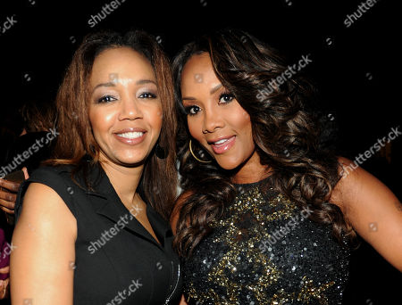 ESSENCE Multicultural Marketing Mgr. Shawn Thompson, left, and Vivica A. Fox attend the 5th Annual ESSENCE Black Women in Music reception, on at 1 OAK in Los Angeles, Calif