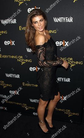 Angela Martini attends the premiere of Everything or Nothing: The Untold Story of 007 at The Museum of Modern Art on in New York
