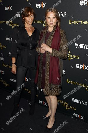 Stock Image of Carey Lowell and Maud Adams attends the premiere of Everything or Nothing: The Untold Story of 007 at The Museum of Modern Art on in New York